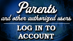 Parents and other authorized users log in to account
